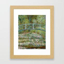 """Claude Monet """"Bridge over a Pond of Water Lilies"""" Framed Art Print"""