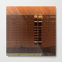 Brown Orange Wisps Metal Print