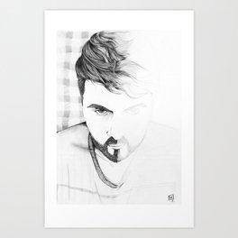 2 faces Art Print
