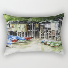 Fishermans Village Rectangular Pillow