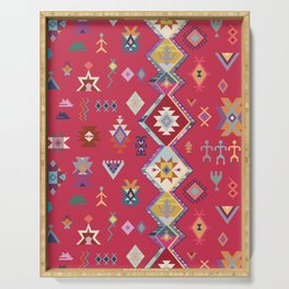 KILIM NO.1 IN DESERT MAGENTA Serving Tray