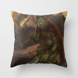 Goblyn Chief Throw Pillow