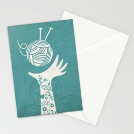 Yarn Love - Teal  Stationery Cards