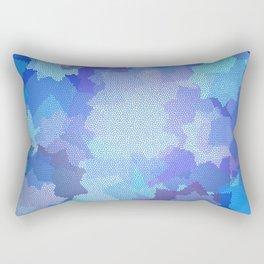 Nine Pointed Stars - Blue Rectangular Pillow