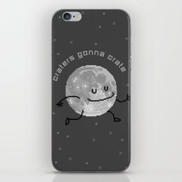 Craters Gonna Crate (8bit) iPhone Skin