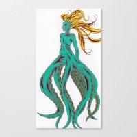 ursula Canvas Prints featuring Ursula by Megan