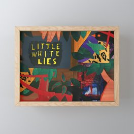 Little White Lies Framed Mini Art Print