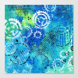 Mixed Media Gears Canvas Print