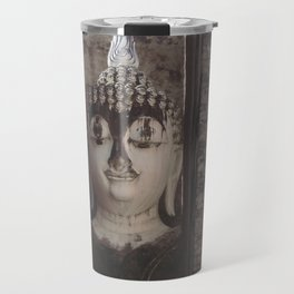 Wat Si Chum Buddha at Sukhothai Historical Park Travel Mug