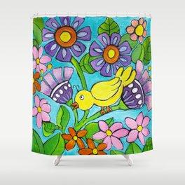 Springtime Series #5 Singing Bird Shower Curtain