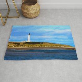 Covesea Skerries Lighthouse (painting) Rug