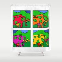 cows Shower Curtains featuring COWS 3 by Stefan Stettner