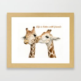 Life Is Better With Friends Framed Art Print