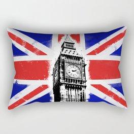 Union Jack Big Ben Rectangular Pillow