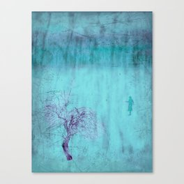 Walking ~ Abstract Shiraz series Canvas Print