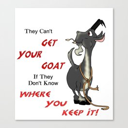 Get Your Goat Canvas Print