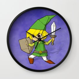 Origami Elf Adventurer Wall Clock