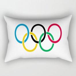 Flag of olympics games-olympic,olympic game,sport,coubertin, circles,medal,fun,international Rectangular Pillow