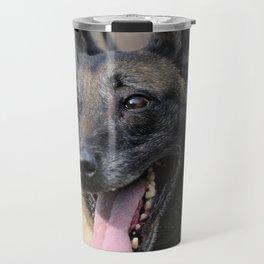 Smiling Belgian Malinois Dog Travel Mug