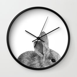 baby bunny rabbit Wall Clock