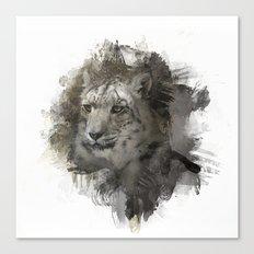 Expressions Snow Leopard 2 Canvas Print