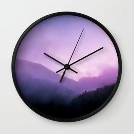 Morning Fog - Landscape Photography Wall Clock