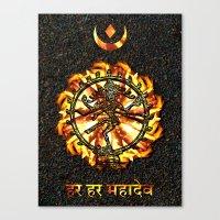 shiva Canvas Prints featuring Shiva  by Khana's Web