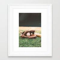 baseball Framed Art Prints featuring BASEBALL by Ylenia Pizzetti