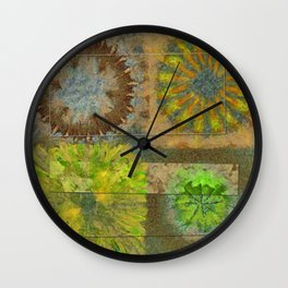Twinged K-Naked Flower  ID:16165-123043-49351 Wall Clock