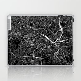 Rome Black Map Laptop & iPad Skin