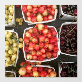 Boxed Cherries New York Canvas Print