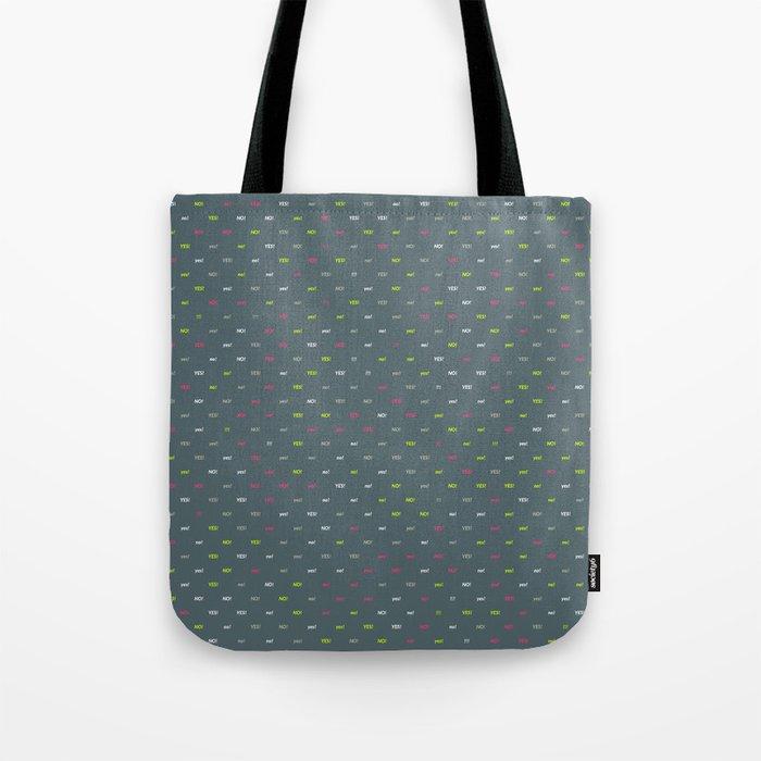 Random Pattern: YES! NO! Tote Bag