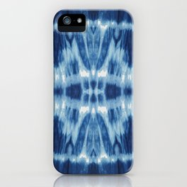 Tie Dye Blues Twos iPhone Case