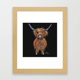 Scottish Highland Cow ' NED ' by Shirley MacArthur Framed Art Print