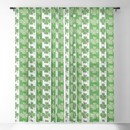 clover leaf shamrock st patricks day Sheer Curtain