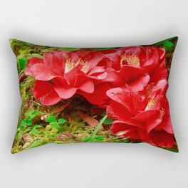 Fallen camellias Rectangular Pillow