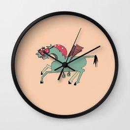Edgar Pink Wall Clock