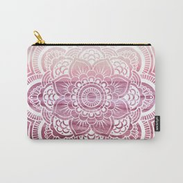 Water Mandala Pink Carry-All Pouch