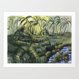 Jungle Patrol Art Print
