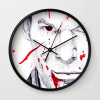 dexter Wall Clocks featuring Dexter by DeMoose_Art