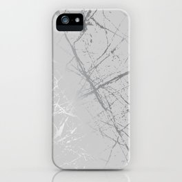 Silver Splatter 089 iPhone Case