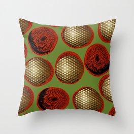 RED, GREEN & GOLD Throw Pillow