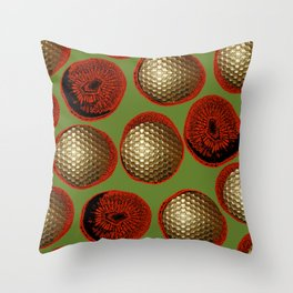 RED, GREEN & GOLD Throw Pillow