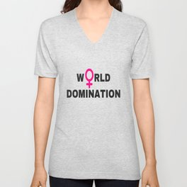 world domination Unisex V-Neck