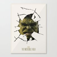 hulk Canvas Prints featuring Hulk by s2lart