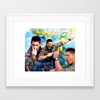 winchester Framed Art Prints featuring Dean Winchester  by Katerina Gold