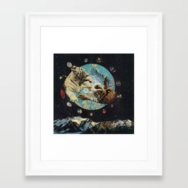 Tigers in Space Framed Art Print