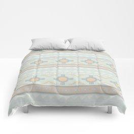 Desert Stripes No. 3 in Sage Bush Green Comforters