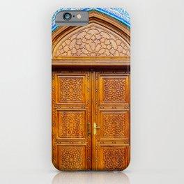 Door of Iranian Mosque in Bur Dubai iPhone Case
