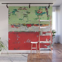 Dixon Red Green Abstract Painting Print Wall Mural